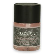 Baroque bath & foam bottle 33 ml roze transparant Productfoto