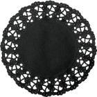 Randen rond zwart 12cm geperforeerd Productfoto
