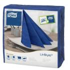 Tork Linstyle Dinner servet 39x39cm 1-laags 1/4vouw midnight blue Productfoto