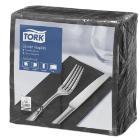 Tork dinnerservet 39x39cm 2-laags 1/8vouw zwart Productfoto
