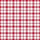 Duni Dunilin Giovanni servet 40x40 cm rood/wit geblokt Productfoto