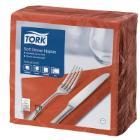 Tork Dinner celstof servet 39x39cm 3-laags 1/4vouw terracotta Productfoto