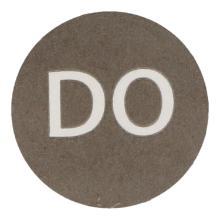 Etiket 19mm rond haccp donderdag zwart wik 2b rol a 500 Productfoto