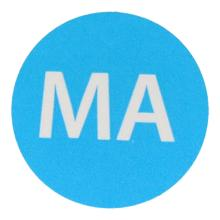 Etiket 19mm rond haccp maandag blauw wik 2b rol a 500 Productfoto