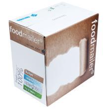 Foodmailer golfkarton wit smal 25,5x15,5x2,4cm 9 liter Productfoto
