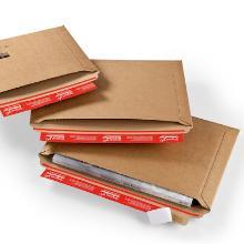 Envelop golfkarton F golf 1,2 mm bruin nr 2 34 x 23,5 x -3,5 cm #2 Productfoto