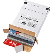 Brievenbusdoos golfkarton F golf wit nr 2 244 x 344 x 15 mm #2 Productfoto