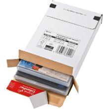 Brievenbusdoos golfkarton F golf wit nr 3 244 x 344 x 45 mm #2 Productfoto