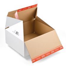 Retourdoos golfkarton B golf wit nr 3 389 x 324 x 160 mm #2 Productfoto