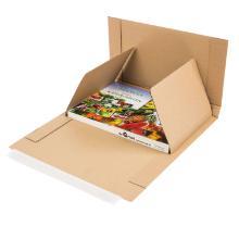 Boekverpakking golfkarton bruin 30,2 x 21,5 x 2,2-8,5 cm #2 Productfoto