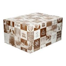 Kerstdoos golfkarton B golf E 550 x 390 x 300 mm dessin blok Productfoto
