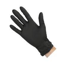 Handschoen nitril zwart maat M ongepoederd Productfoto