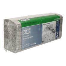 Poetsdoeken Tork tissue 1 laags grijs 43 x 35,5 cm met vouw #2 Productfoto