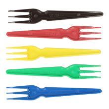 Snackvork PS 8,7 cm 3 tanden in diverse kleuren Productfoto