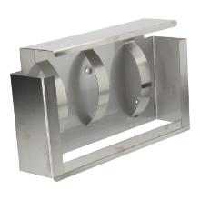 Dispenser RVS 22 x 8 x 37 cm voor 3 dozen handschoenen Productfoto