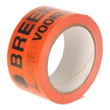 Tape pp acryl oranje 48mmx66mtr breekbaar/fragile high tack low noise Productfoto