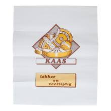 Kaasvel gevoerd duplex 60 grs geel /bruin de luxe 40 x 48 cm Productfoto