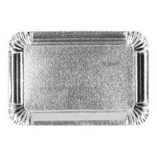 Gevoerde schaal aluminium grijs 12 x 19 cm Productfoto