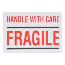 Etiket papier 10 x 7 cm handle with care fragile Productfoto
