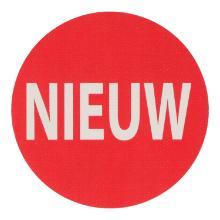 Etiket MC rood 3,5 cm rond nieuw Productfoto