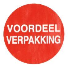 Etiket papier rood/wit 3,5 cm rond voordeelverpakking Productfoto