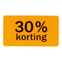 Etiket papier fluor oranje 4,5 x 2,5 cm 30% korting Productfoto