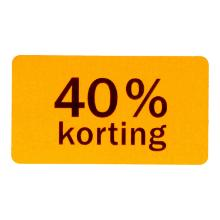 Etiket papier fluor oranje 4,7 x 2,5 cm40% korting Productfoto