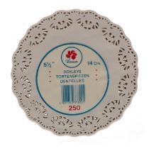 Taartrand Ersatz wit 13,8 cm rond met opengewerkte rand Productfoto