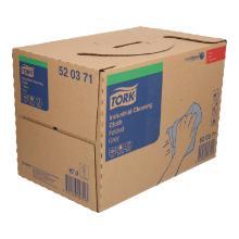 Poetsdoeken Tork premium 520 tissue grijs 42 x 38 cm in dispenserdoos van 280 vellen #2 Productfoto