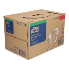 Poetsdoek Tork heavy duty non woven wit 1 laags 39 x 43 cm in dispenserdoos #2 Productfoto