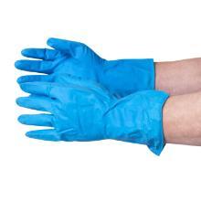 Huishoudhandschoenen latex blauw maat L Productfoto