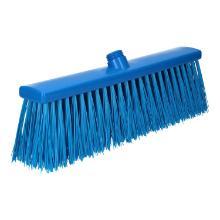 Bezem met lang haar plastic blauw 40 cm Productfoto