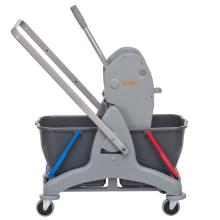 Rolemmer mopsysteem met 2 emmers 15 liter plastic grijs Productfoto