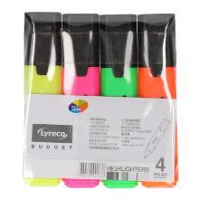 Markeerstiften assorti van 4 kleuren Productfoto