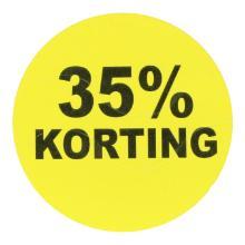 Etiket papier fluor geel rond 3,5 cm 35% korting Productfoto