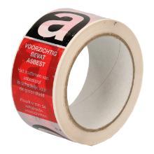 Tape PP 5 cm x 66 mtr bedrukt Asbestgevaarlijk Productfoto