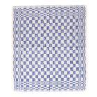 Handdoek badstof blauw/wit 48 x 54 cm Productfoto