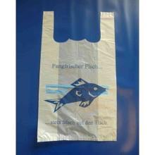 MDPE-Hemdchen-Tragetaschen 28 cm x 14 cm x 48 cm Fisch2 Motiv Produktbild