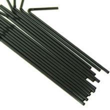 Trinkhalme Ø 5 mm 24 cm flexibel schwarz Produktbild