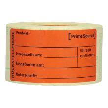 Label Rückstellprobe 4 Rollen = 1.000 Etiketten PrimeSource Produktbild