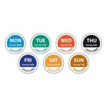 LabelLord Aqualabel Dienstag u.haltbar bis englisch 1 Rolle = 500 Etiketten Produktbild