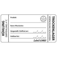 LabelLord Flushlabel Kuehlung-Trockenlager 1 Rolle = 250 Etiketten Produktbild