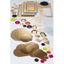Zuschnitt Vollpappe 140 mm x 200 mm 1-seitig PET Gold beschichtet gerade Ecken Produktbild