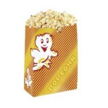 Popcorntuete Poppy rot-gelb Gr.3 14 cm x 8,5 cm x 21 cm Produktbild