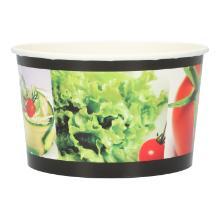 Salatschale Papier Ø 124 mm x 73mm 600 ml weiss Neutraldruck Produktbild