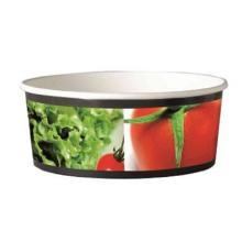 Salatschale Papier Ø 151 mm x 60 mm 750 ml weiss Neutraldruck Produktbild