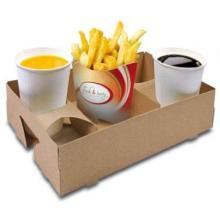 Snack Carry Tray 254 mm x 165 mm x 63 mm Fresh & tasty braun außen weiß Produktbild
