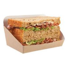 Sandwichbox offen Kraft braun 125 x 65 x 20/70 mm Produktbild