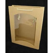 Flaschentasche 27 cm x 8,5 cm x 36 cm Focus Natur mit Sichtfenster + Baumwollkor Produktbild