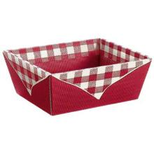 Präsentkorb 4-eckig 19,8 cm x 14,8 cm x 9,5 cm bordeaux Picknick klein Produktbild